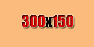 We also offer a 300 by 150 size ad.