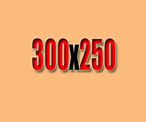The most popular ad size among our advertisers is 300 by 250.